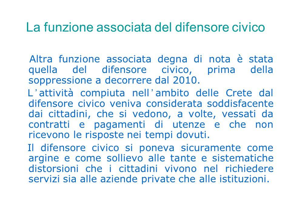 I lavori in corso LE FORME ASSOCIATIVE ESAMINATE.Unioni di Comuni a disciplina differenziata.