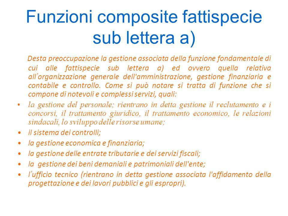 Funzioni composite fattispecie sub lettera h) Anche la funzione di competenza comunale dell'edilizia scolastica appare composta da più servizi.