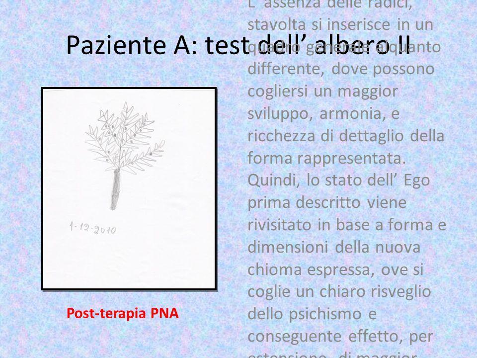Paziente A: test dell' albero II L' assenza delle radici, stavolta si inserisce in un quadro generale alquanto differente, dove possono cogliersi un m