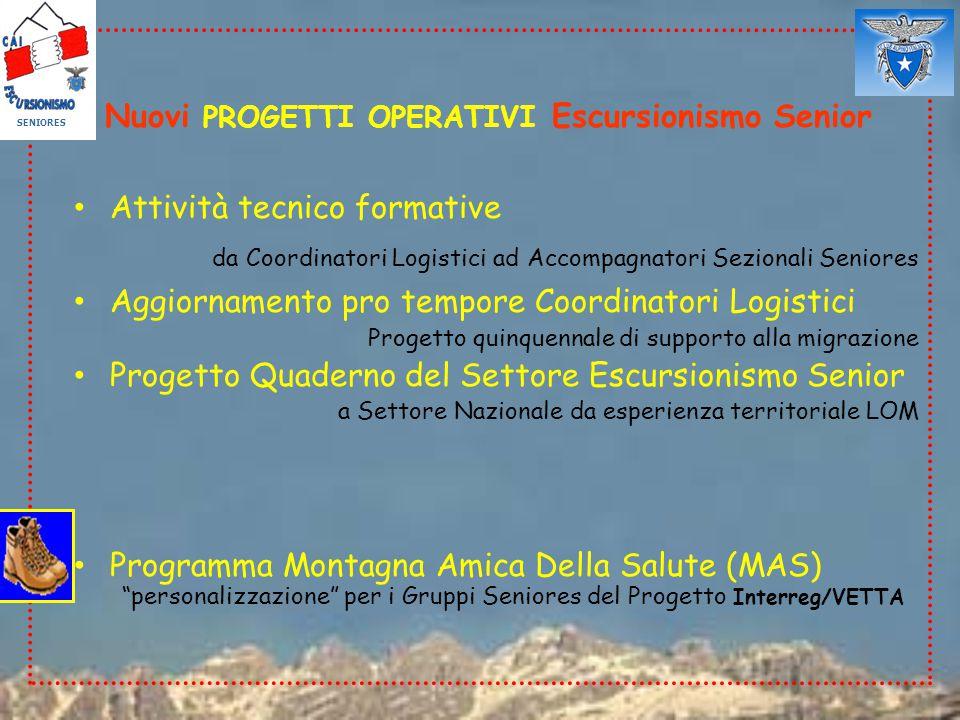 4°CONVEGNO (Calolzio, 14 ottobre 2006) SPECIFICITA': Attività / Obiettivi organizzativi prioritari (votazione Delegati Seniores)
