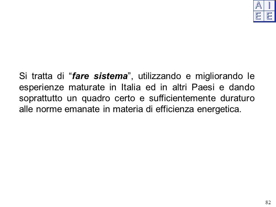 """Si tratta di """"fare sistema"""", utilizzando e migliorando le esperienze maturate in Italia ed in altri Paesi e dando soprattutto un quadro certo e suffic"""