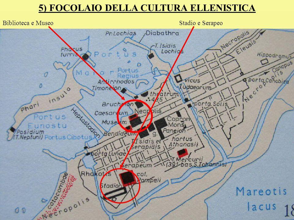 5) FOCOLAIO DELLA CULTURA ELLENISTICA Biblioteca e MuseoStadio e Serapeo