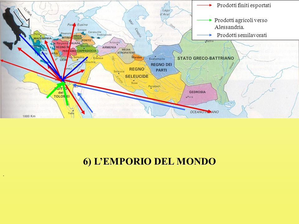 Prodotti finiti esportati Prodotti agricoli verso Alessandria.