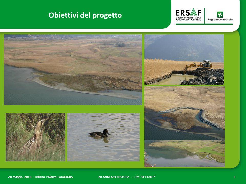 """20 ANNI LIFE NATURA - Life """"RETICNET""""2 28 maggio 2012 - Milano Palazzo Lombardia Obiettivi del progetto"""