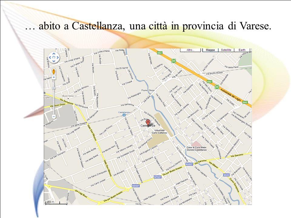 … abito a Castellanza, una città in provincia di Varese.