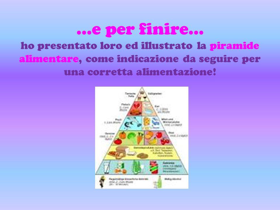 …e per finire… ho presentato loro ed illustrato la piramide alimentare, come indicazione da seguire per una corretta alimentazione!