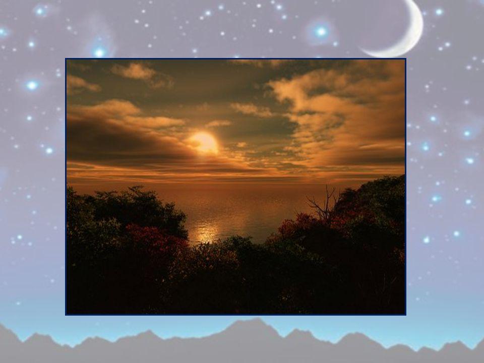 i cussini xe nuvole e la luna un feral, in fila, sora le bricole, s'à 'ndormensao anche i corcai.