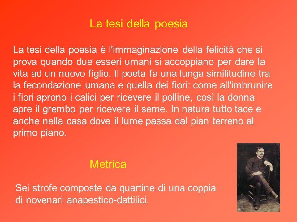 Gabriele Briganti, a cui è dedicato il canto. Il messaggio della poesia Il messaggio della poesia è l'augurio che il poeta rivolge al suo amico Gabrie