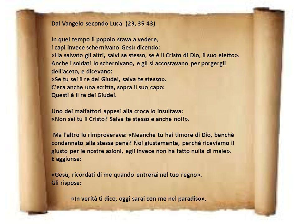 Omelia di Don Ferruccio XXXIV domenica Anno C