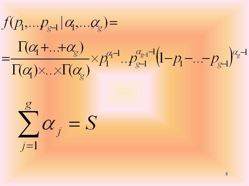19 Con k-1-h gradi di libertà. Dove h indica il numero di parametri stimati, 2.