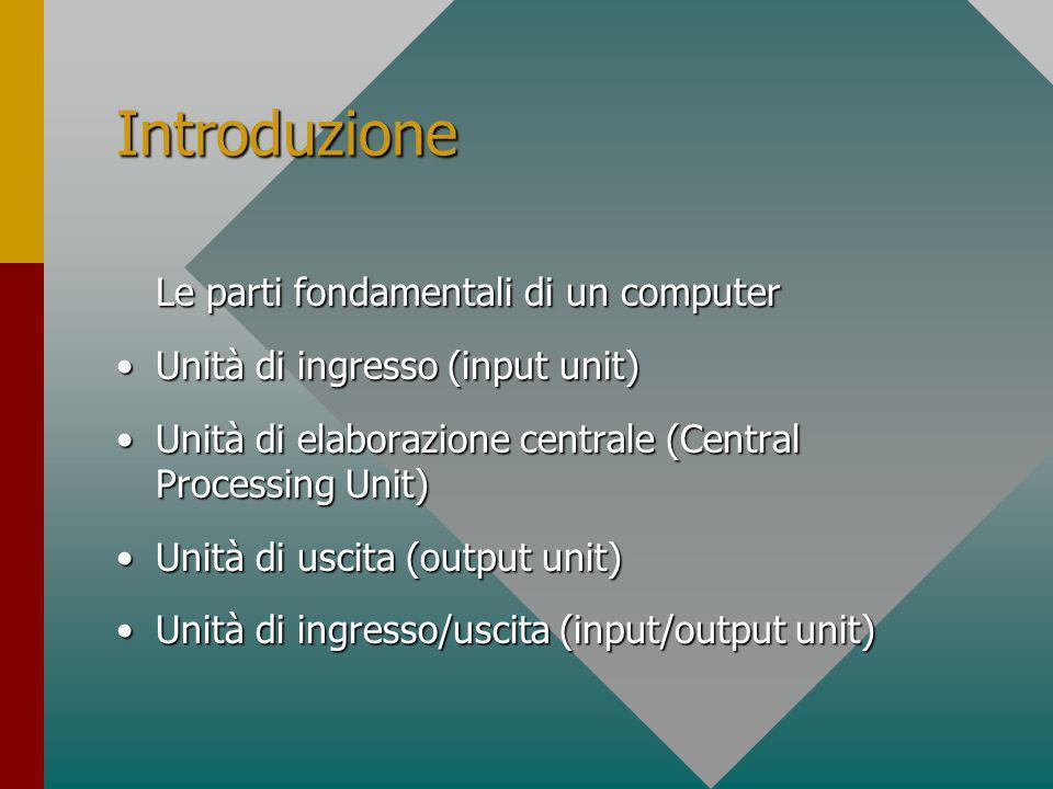 Introduzione Micro Computer (PC = Personal Computer)Micro Computer (PC = Personal Computer) Mini ComputerMini Computer MainframeMainframe