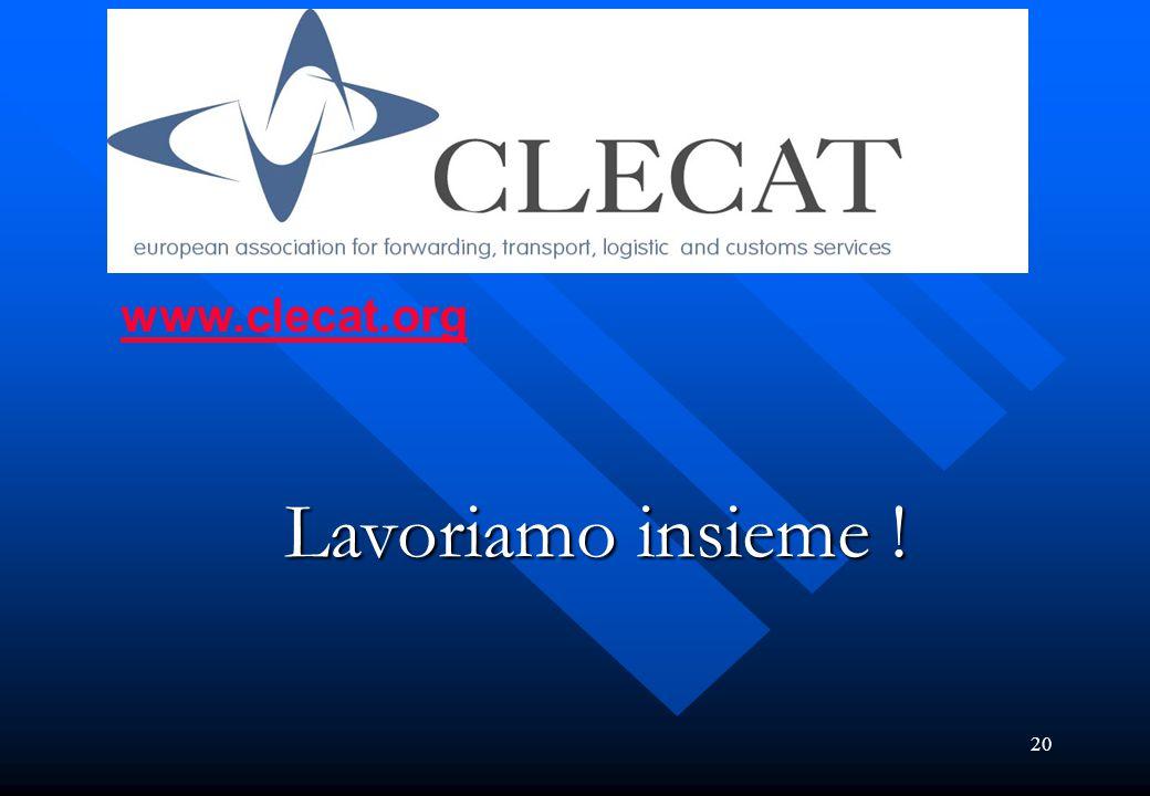 20 www.clecat.org Lavoriamo insieme !