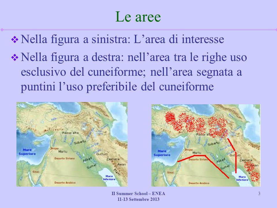 II Summer School – ENEA 11-13 Settembre 2013 3 Le aree  Nella figura a sinistra: L'area di interesse  Nella figura a destra: nell'area tra le righe