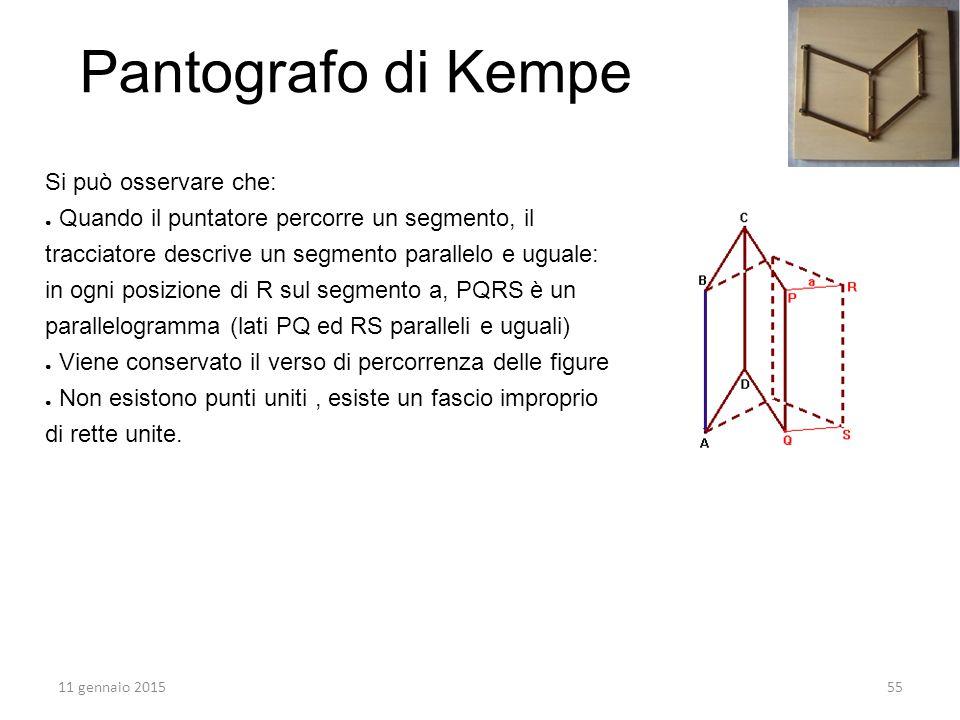 Si può osservare che: ● Quando il puntatore percorre un segmento, il tracciatore descrive un segmento parallelo e uguale: in ogni posizione di R sul s