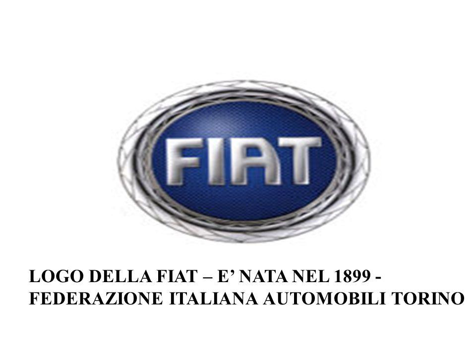 LOGO DELLA FIAT – E' NATA NEL 1899 - FEDERAZIONE ITALIANA AUTOMOBILI TORINO