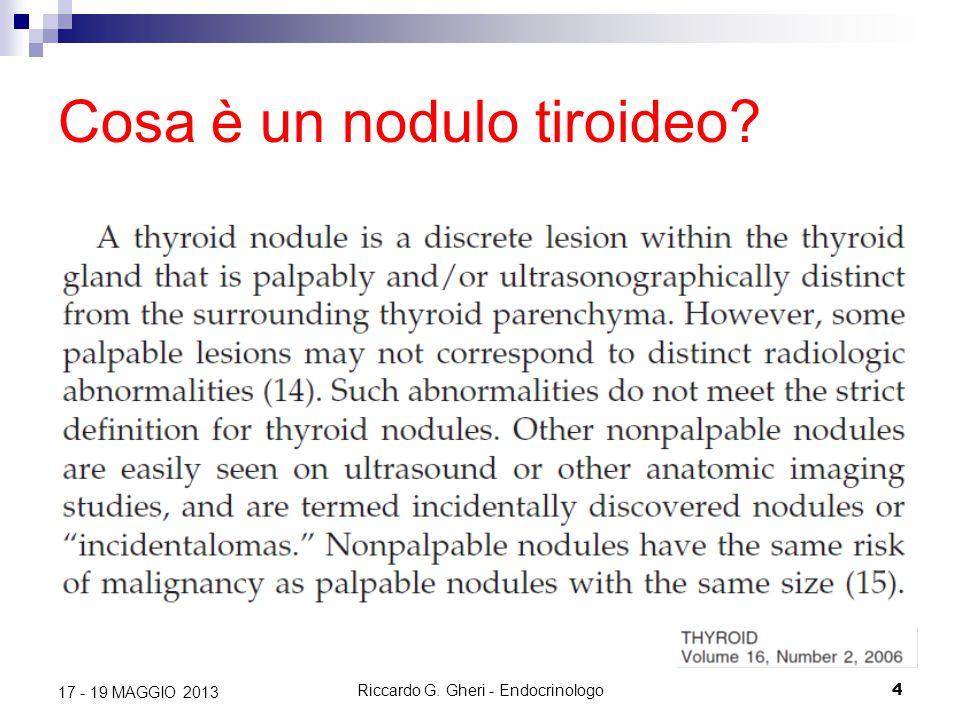 Riccardo G. Gheri - Endocrinologo4 17 - 19 MAGGIO 2013 Cosa è un nodulo tiroideo?