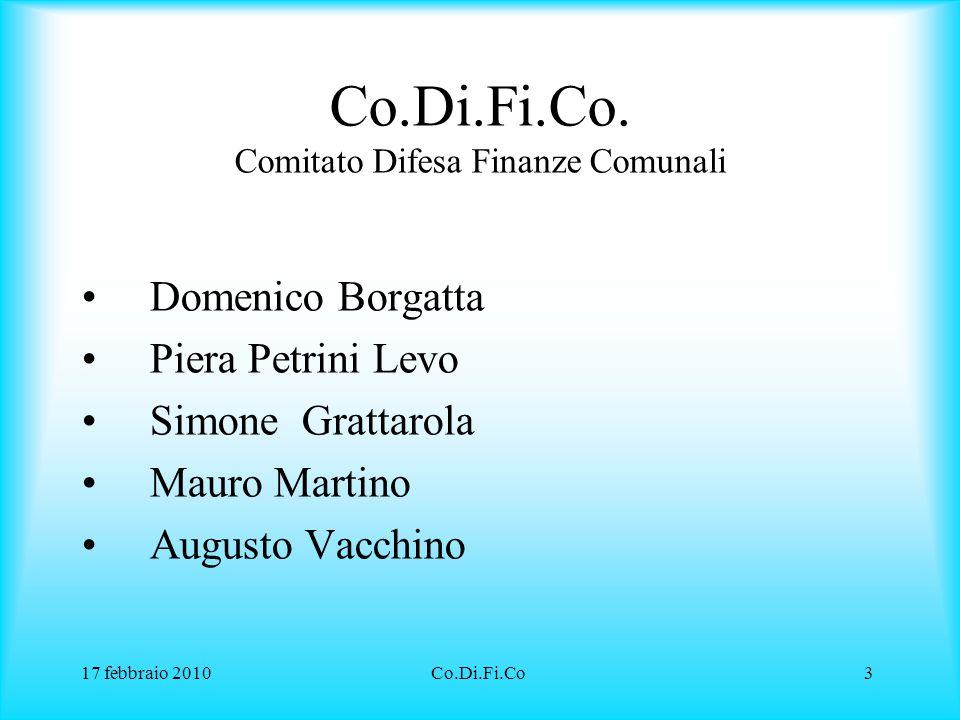17 febbraio 2010Co.Di.Fi.Co14 COSA SIGNIFICA APERTURA CONTRATTO L'apertura dei contratti derivati è necessaria al fine di comprendere il vero danno patito.