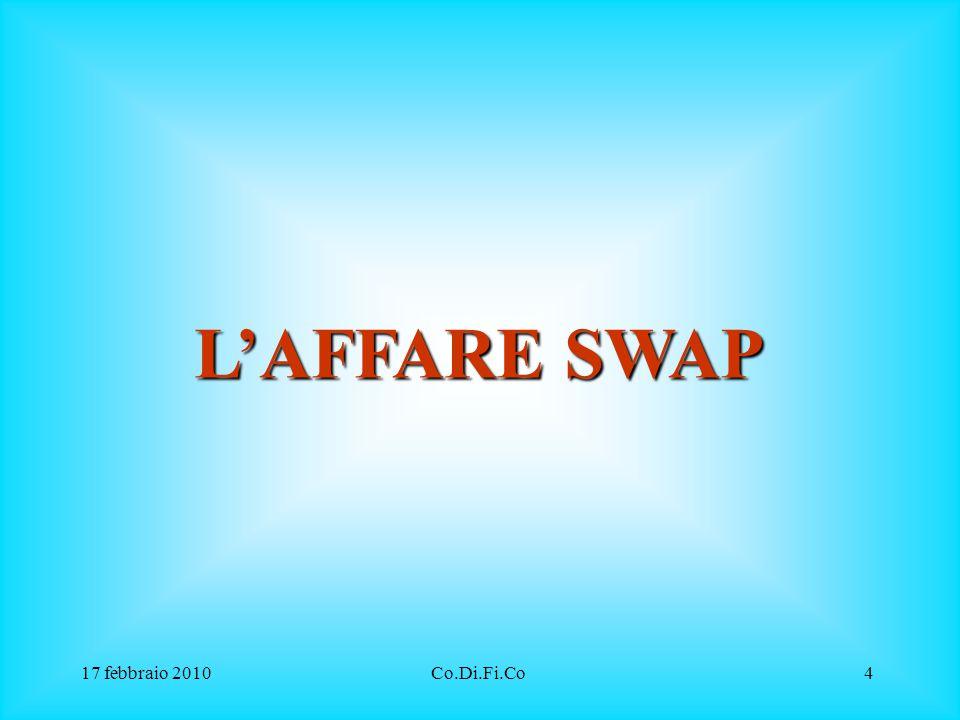 17 febbraio 2010Co.Di.Fi.Co25 Valore del contratto swap mark to market Il contratto swap ha un valore intrinseco che, come per tutti gli strumenti finanziari, cambia al cambiare delle condizioni di mercato.