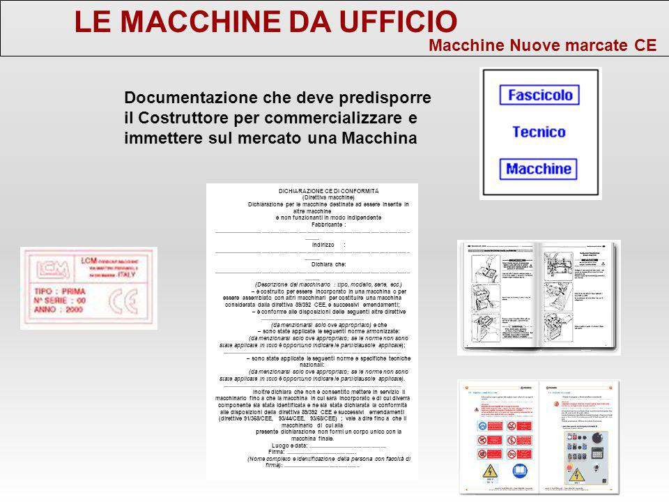 Macchine e attrezzature di lavoro