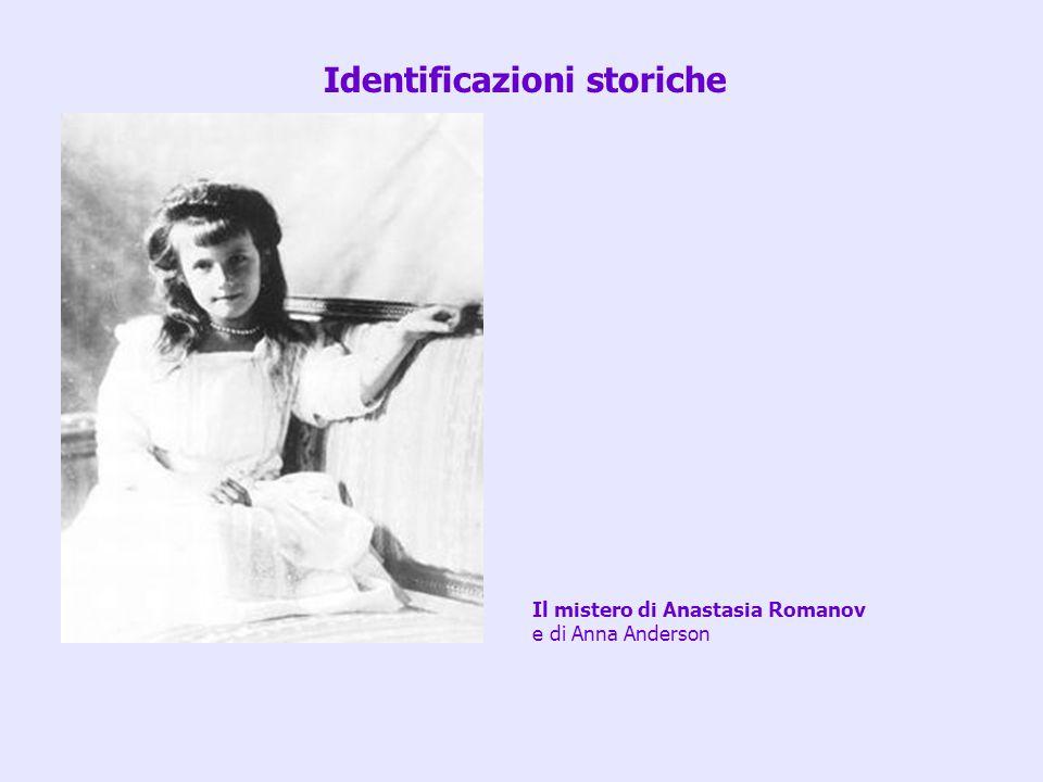 Il mistero di Anastasia Romanov e di Anna Anderson Identificazioni storiche