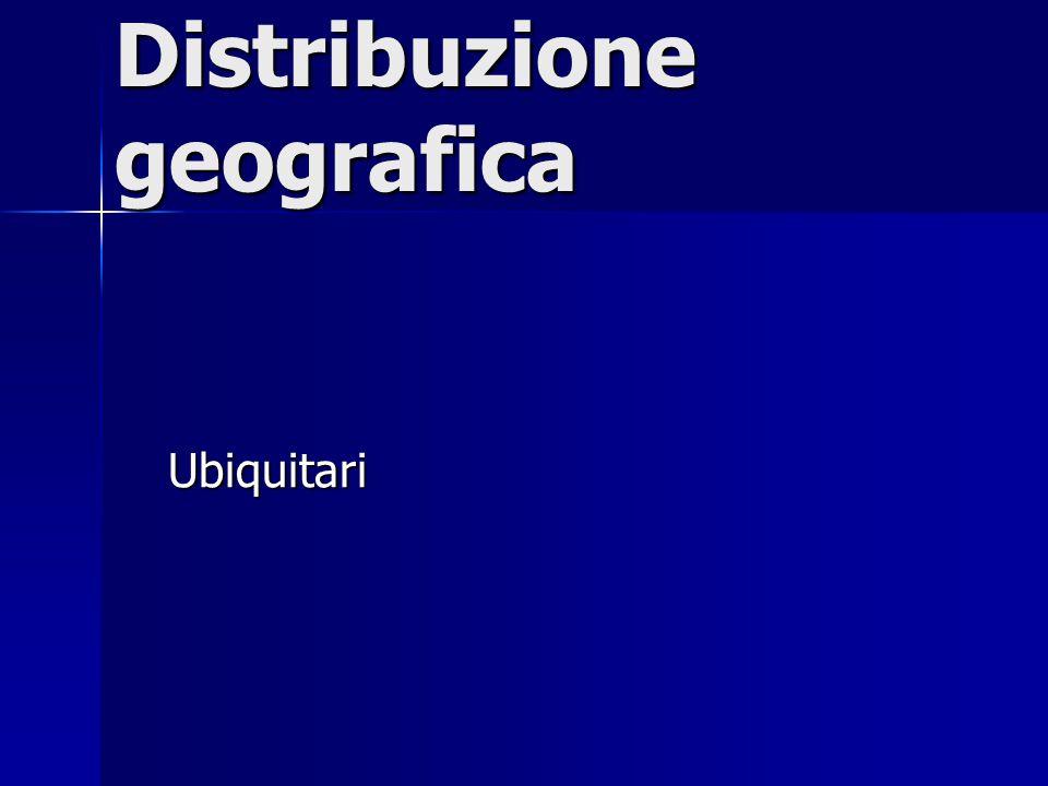 Distribuzione geografica Ubiquitari