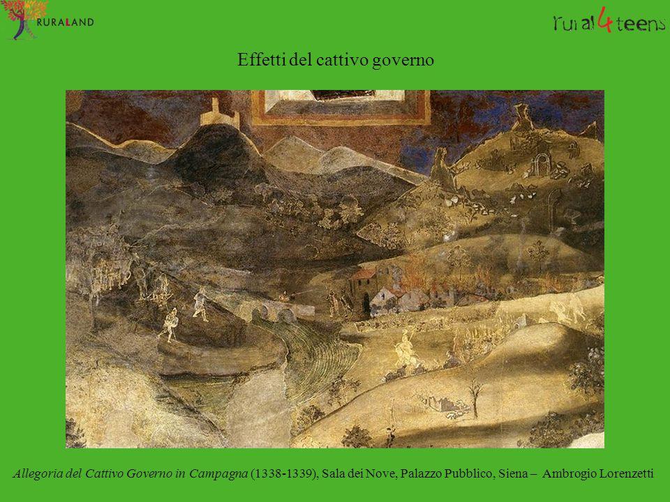 Effetti del cattivo governo Allegoria del Cattivo Governo in Campagna (1338-1339), Sala dei Nove, Palazzo Pubblico, Siena – Ambrogio Lorenzetti