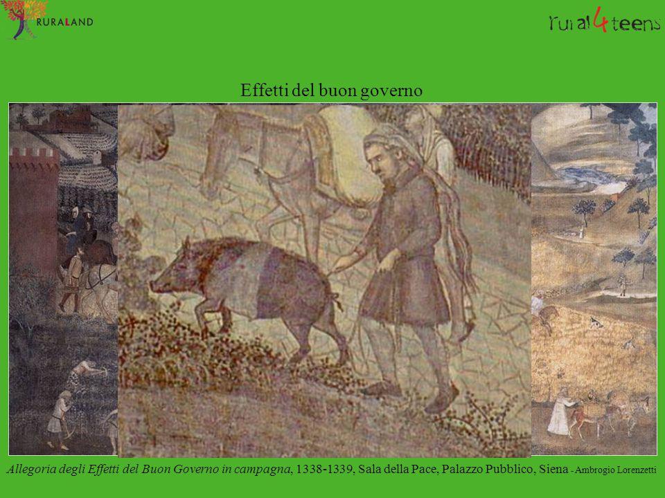 Effetti del buon governo Allegoria degli Effetti del Buon Governo in campagna, 1338-1339, Sala della Pace, Palazzo Pubblico, Siena - Ambrogio Lorenzet