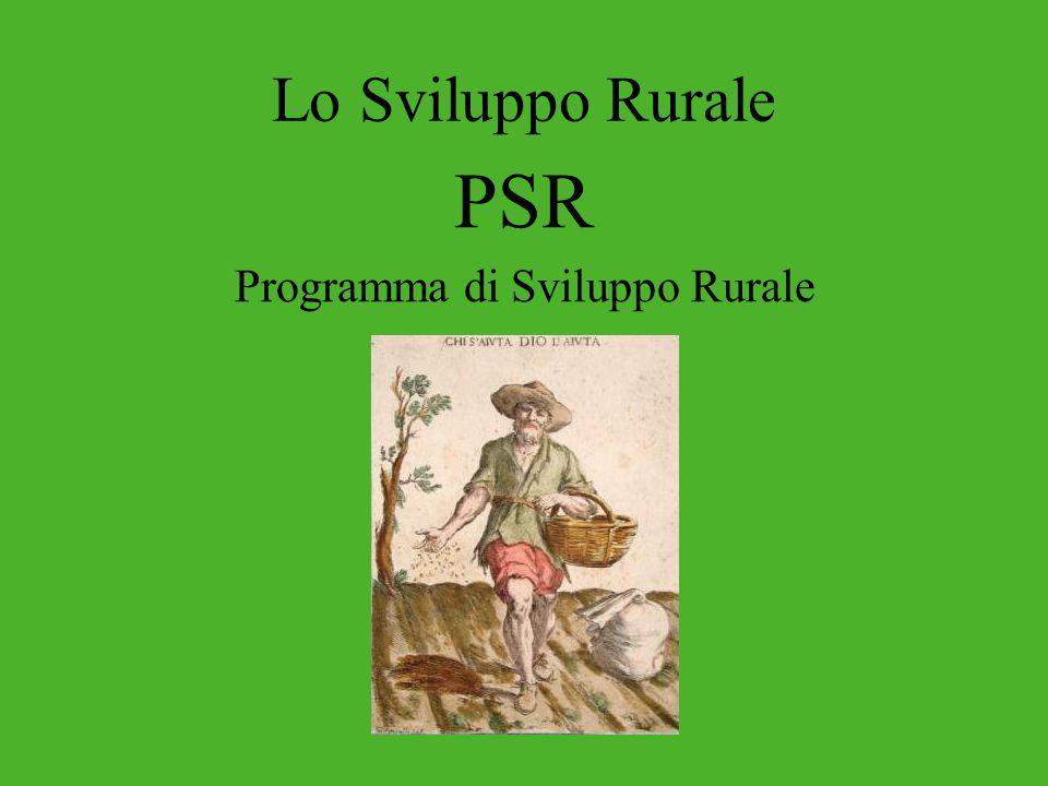 Lo Sviluppo Rurale PSR Programma di Sviluppo Rurale