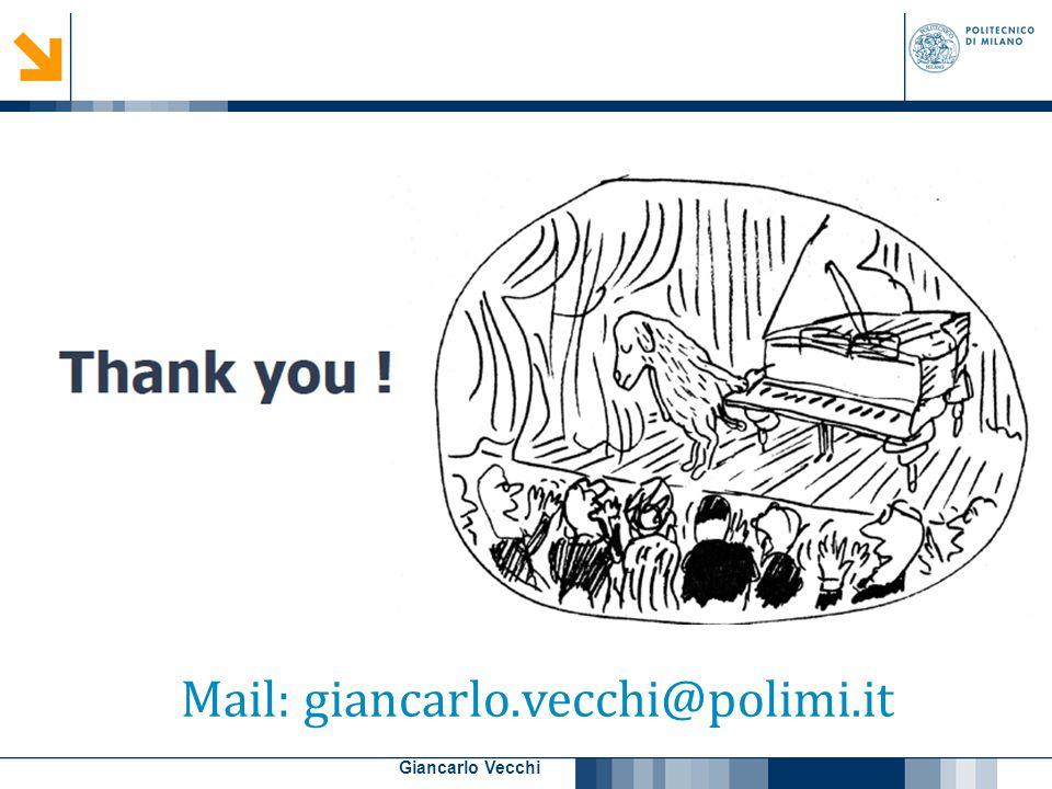 27 Giancarlo Vecchi Mail: giancarlo.vecchi@polimi.it