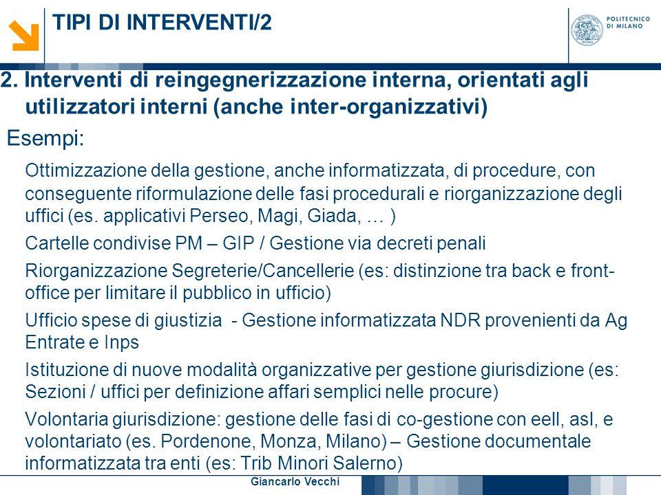 7 Giancarlo Vecchi TIPI DI INTERVENTI/3 3.