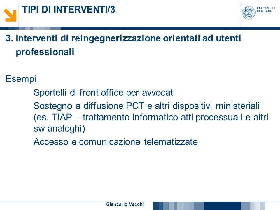 8 Giancarlo Vecchi TIPI DI INTERVENTI/4 4.
