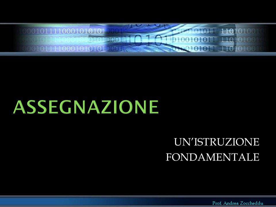 Prof. Andrea Zoccheddu UN'ISTRUZIONEFONDAMENTALE