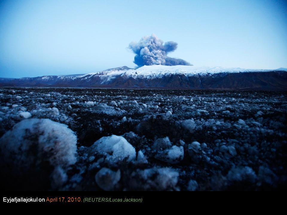 Eyjafjallajokul on April 17, 2010. (REUTERS/Lucas Jackson)