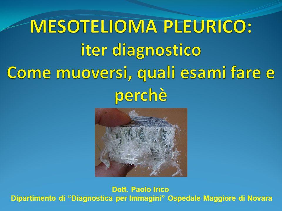 Il MESOTELIOMA PLEURICO è un tumore maligno originante dalla pleura parietale e fortemente correlato all'esposizione alle fibre di amianto.