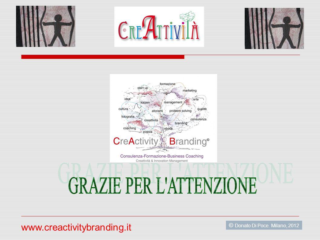 © Donato Di Poce. Milano, 2012 www.creactivitybranding.it