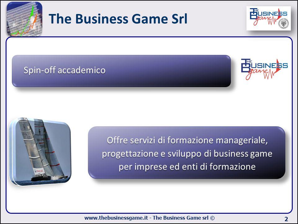 www.thebusinessgame.it - The Business Game srl © The Business Game Srl 2 Spin-off accademico Offre servizi di formazione manageriale, progettazione e