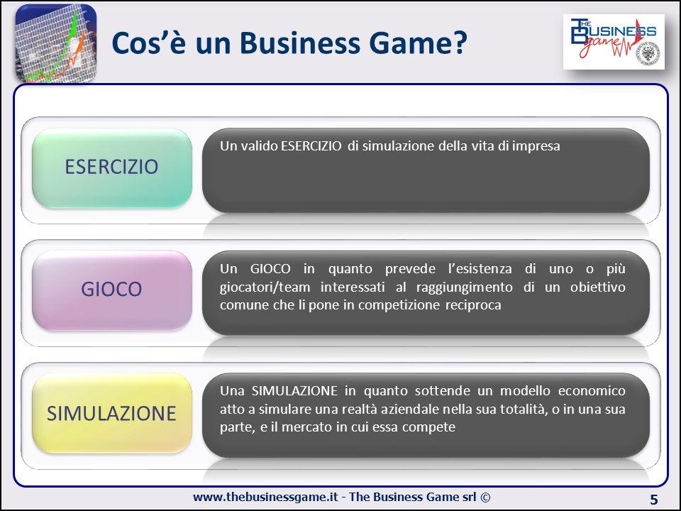 www.thebusinessgame.it - The Business Game srl © Cos'è un Business Game? 5 ESERCIZIO Un valido ESERCIZIO di simulazione della vita di impresa GIOCO Un