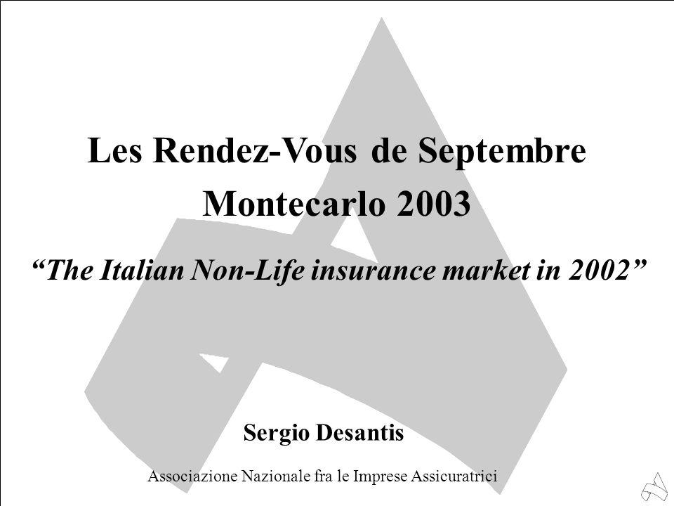 "Les Rendez-Vous de Septembre Montecarlo 2003 ""The Italian Non-Life insurance market in 2002"" Sergio Desantis Associazione Nazionale fra le Imprese Ass"