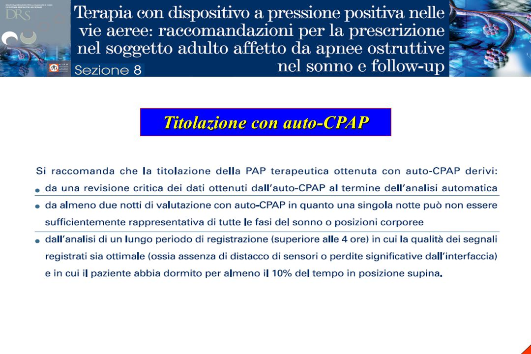 Titolazione con auto-CPAP