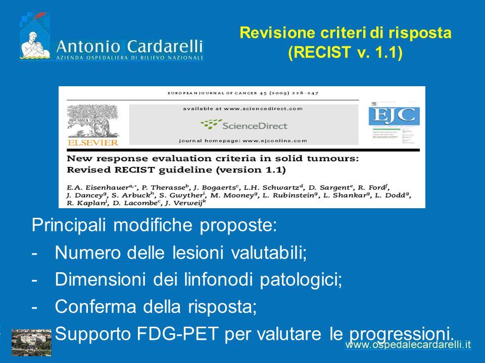 Revisione criteri di risposta (RECIST v.