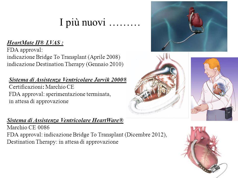 HeartMate II® LVAS : FDA approval: indicazione Bridge To Transplant (Aprile 2008) indicazione Destination Therapy (Gennaio 2010) Sistema di Assistenza