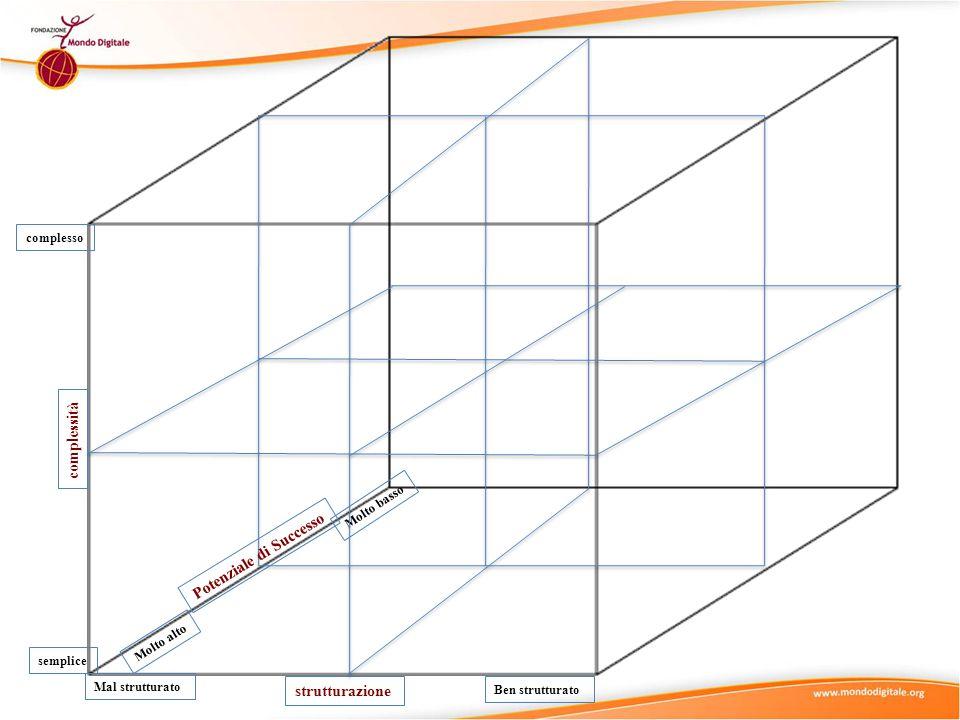 strutturazione complessità semplice complesso Ben strutturato Mal strutturato Molto basso Molto alto Potenziale di Successo