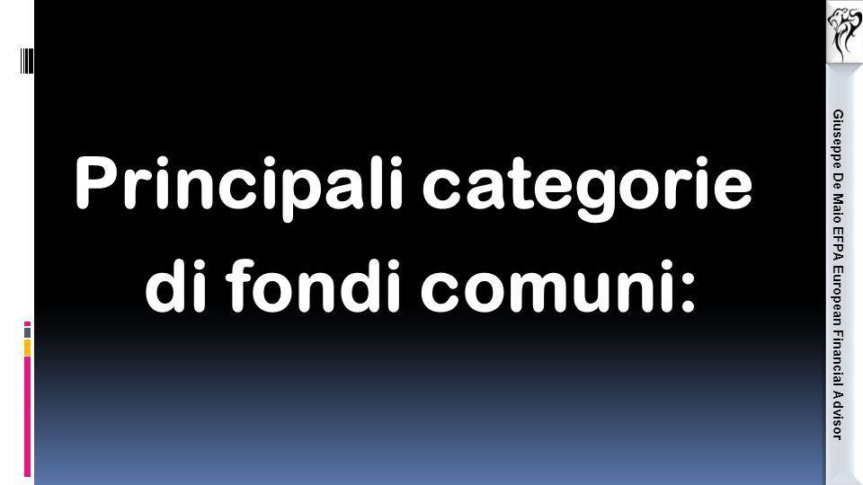 Giuseppe De Maio EFPA European Financial Advisor Principali categorie di fondi comuni: