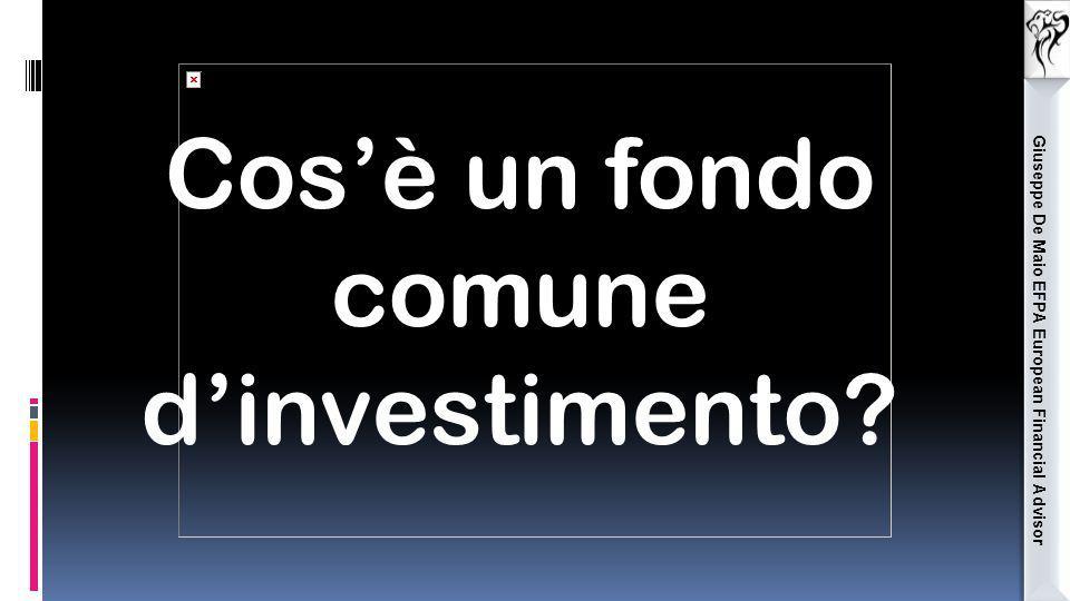 Giuseppe De Maio EFPA European Financial Advisor Cos'è un fondo comune d'investimento?