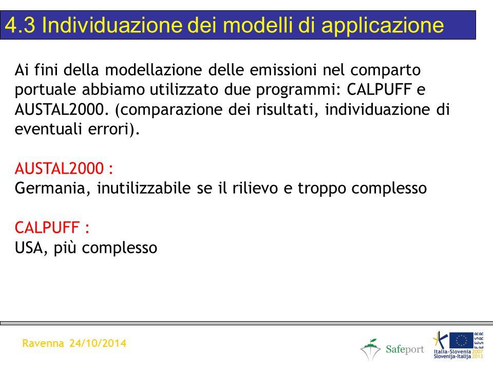 Ai fini della modellazione delle emissioni nel comparto portuale abbiamo utilizzato due programmi: CALPUFF e AUSTAL2000.