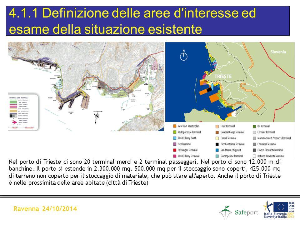 Nel porto di Trieste ci sono 20 terminal merci e 2 terminal passeggeri.