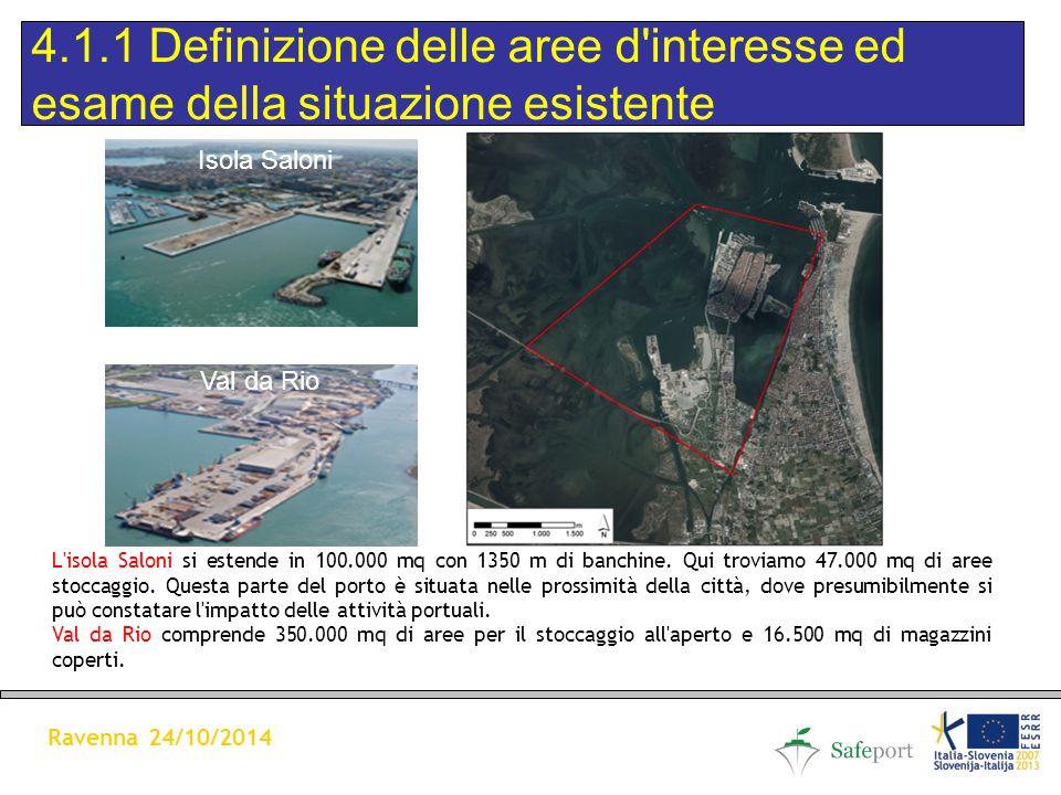 L isola Saloni si estende in 100.000 mq con 1350 m di banchine.