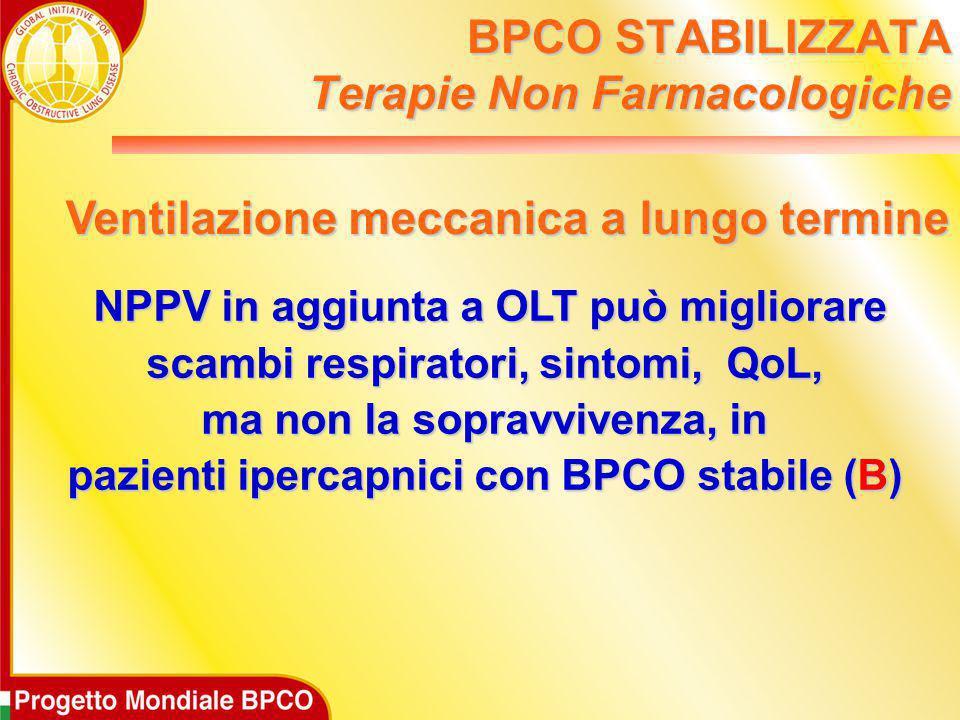 NPPV in aggiunta a OLT può migliorare NPPV in aggiunta a OLT può migliorare scambi respiratori, sintomi, QoL, ma non la sopravvivenza, in pazienti ipe