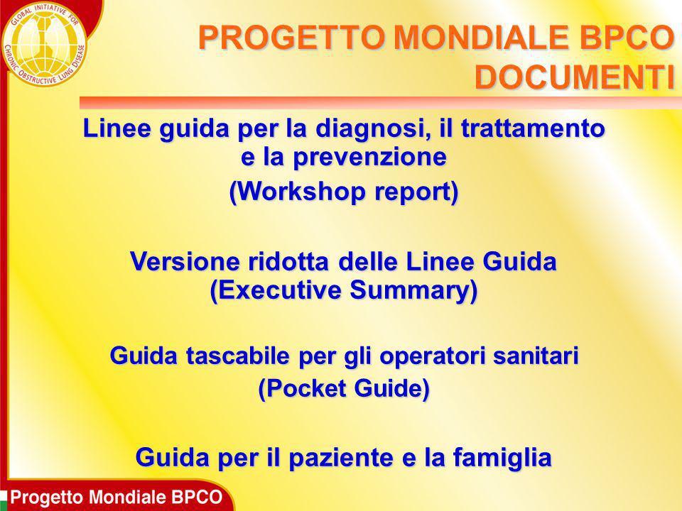 Linee guida per la diagnosi, il trattamento e la prevenzione (Workshop report) Versione ridotta delle Linee Guida (Executive Summary) Guida tascabile