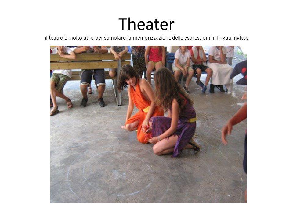 Theater il teatro è molto utile per stimolare la memorizzazione delle espressioni in lingua inglese